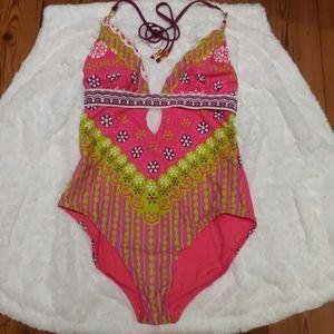 Trina Turk Seychelles One Piece Swimsuit Sz Large